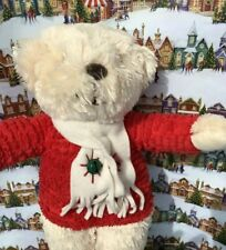 "Hallmark Jingle Bell Christmas Bear Plush 14"" Stuffed Animal Plays Jingle Bells"