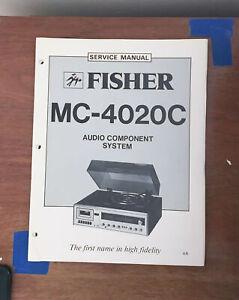 Fisher MC-4020C Stereo System Service Manual *Original*