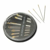 10X(30pcs Assorted Sizes Hand Sewing Needles Embroidery Mending Craft Sew Case