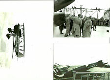 SET OF 3 - LOT #29  B&W 4X6 PHOTOGRAPHS - RACING AIRPLANES & AVIATION