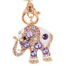 Jewelry Crystal Bag Trendy Ring Elephant Pendant Key Chain Rhinestone