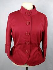 Chadwicks Collection Women's Jacket Fashion Career Red Adjustable Fit Size10