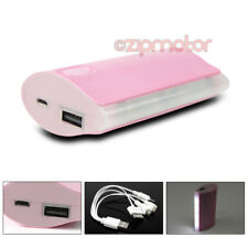 5200MAH PORTABLE BATTERY CHARGER USB PINK NOKIA LUMIA 920 1020 HTC ONE X Z10 Q10