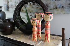 Japanese vintage kokeshi doll set of 3 from Yajiro