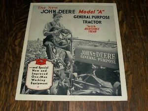 "Vintage John Deere Model ""A"" General Purpose Tractor with Adjustable Tread Broch"