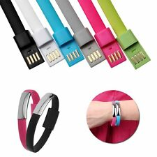 Black Micro USB Charging Cable Data Sync For iPhone Bracelet Wrist Band Charger