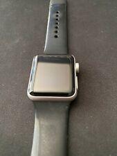 Apple Watch Series 3 38 mm Silver Aluminum Case Black Sport Band Smartwatch GPS