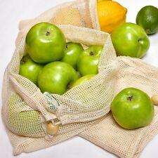 20 Grocery Reusable Cotton Mesh Produce Bags - 100% Organic Cotton Produce Bags