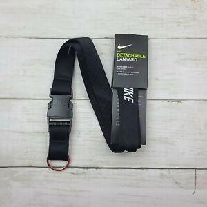 NIKE Detachable Lanyard Detachable Clip Durable Black White - New