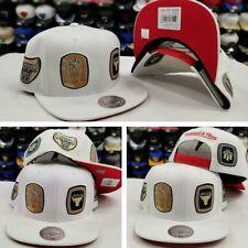 Mitchell & Ness NBA Chicago Bulls 6X Championship Rings WHITE snapback Hat Cap