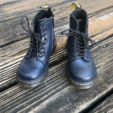 Dr Martens Docs Brooklee Boots Navy Blue Airwair 9 UK 8 EU 26 Toddler Shoes NEW