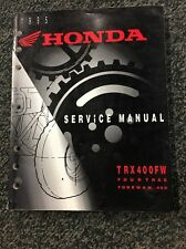 Honda TRX400FW Fourtrax Foreman Service Manual
