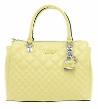 GUESS Queenie Luxury Satchel Schultertasche Tasche Yellow Gelb Neu