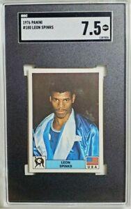 1976 Panini Montreal 76 #180 Leon Spinks Rookie Sticker RC SGC 7.5 NM+ POP 1