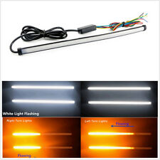 2 X 45cm Waterproof Switchback Flow LED Dual Color Light Strip Signal Lamps Tube