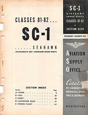 1945 Curtiss SC-1 Seahawk ASO Airframe Spare Parts Catalog - CD