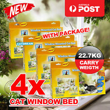 4x Comfortable Cat Window Mounted Bed Pet Sunny Wall Home Hammock Cover Washable