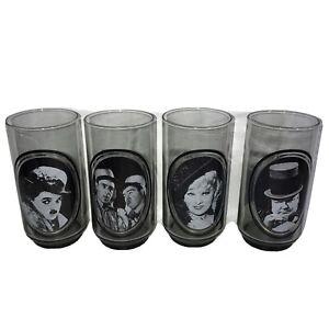 Vintage ARBY'S 1979 COLLECTORS SERIES #1, 2, 4, & 6 Actors Glasses