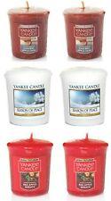 6 x Yankee Candle Votive Candles Festive Christmas Fragrances