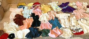 Large Lot Vintage Doll Clothes Assorted Sizes Dresses Aprons Sleepwear Handmade