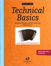 Heinz Hox Technical Basics Akkordeonschule Noten Schule für Akkordeon