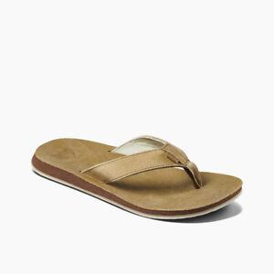 Reef Men's Drift Classic Leather Flip Flops - Sand NWT