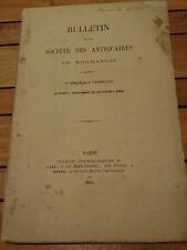 BULLETIN Société ANTIQUAIRES DE NORMANDIE 5è année 4ème 1865