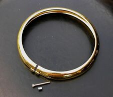 """Brass Plated Trim Ring for 5-3/4"""" Bates style Headlights, Bobber, Chopper"""