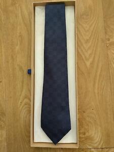 Louis Vuitton Damier blue tie