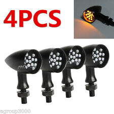 4x Black LED Turn Signal Lights for Suzuki VZ Marauder 800 1600 Savage LS 650