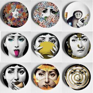 Fornasetti Colorful Lina Cavalieri Face Milan Decorative Ceramic Wall Plate Home