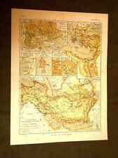 Carta cartina estratta da Atlante del 1890 Regno d'Alessandro Magno Issus Tyrus