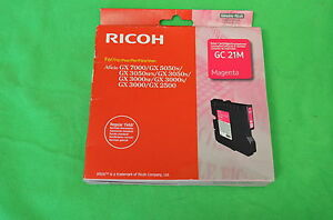 NRG Ricoh GC21M Magenta GC  21M Regular Yeild Genuine Original Date 2012 / 2013