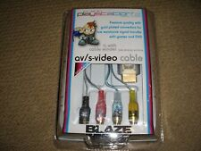 PLAYSTATION PS2 PS3 COMPOSITE S-VIDEO TV CABLE LEAD NEW