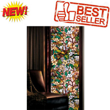 Decorative Privacy Window Film Stained Glass Static Cling No Non Adhesive Roll,