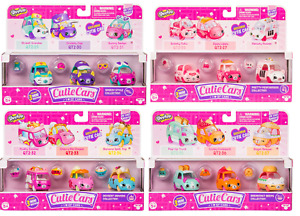 Shopkins Cutie Cars 3 Pack - Series 2 - Brand New - Boxed