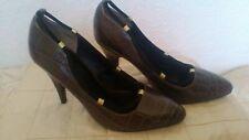 Reiss snake print shoes heels brown uk 5 (38)