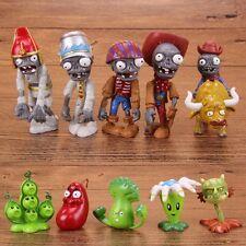 10 Plants vs Zombies Action Figures Set Bonk Choy Play Toy Kid Cake Topper Decor