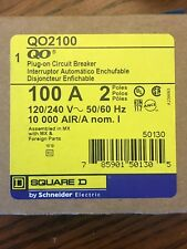 SQUARE D QO2100 2 POLE 100 AMP SNAP IN BREAKER