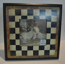 Vintage Days Wood Checkerboard Frame 5x5 photo