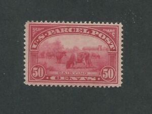 1913 United States Parcel Post Stamp #Q10 Mint Lightly Hinged VF Original Gum