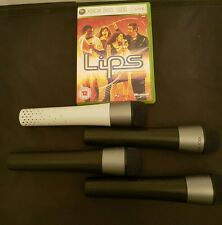 4 X GENUINE OFFICIAL WIRELESS XBOX 360 MICROPHONE WHITE x3 BLACK WITH LIPS GAME