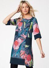 36J682 THOUGHT BNWT Vanessa Blooms Multi Organic Cotton Dress Size 10 RRP £80