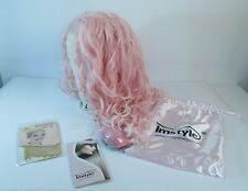 IMSTYLE Pink Womens Wig Long Hair Curly Spiral Cosplay Costume NEW Long