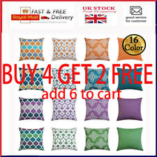 """Waterproof Cushion Cover Pillow Case Throw Outdoor Home Decor 16"""" 18"""" 20"""" 24"""""""
