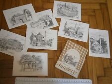 GRAPHICS LOT VINTAGE ART POSTCARD SARAJEVO M.GERSTENHOFER SADRVAN MOSQUE BRIDGE