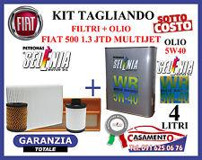 KIT TAGLIANDO LANCIA MUSA 1.3 MULTIJET  FILTRI + OLIO MOTORE SELENIA WR 5W40