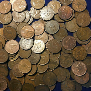 Australian Bulk Pennies pre decimal 1 KILO Penny  1938 -1964 Bullion