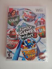 Hasbro Family Game Night 3 Game New & Sealed! Nintendo Wii