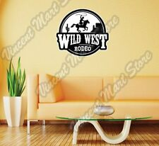 "Wild West Cowboy Rodeo Bull Hat Wall Sticker Room Interior Decor 22""X22"""
